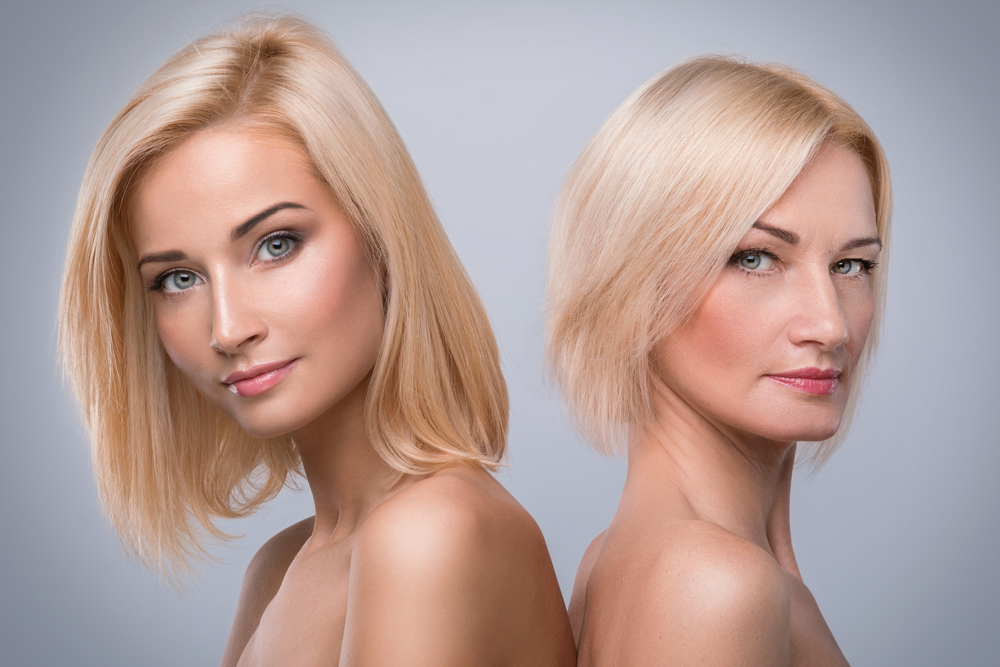 comparison of women with and without wrinkles