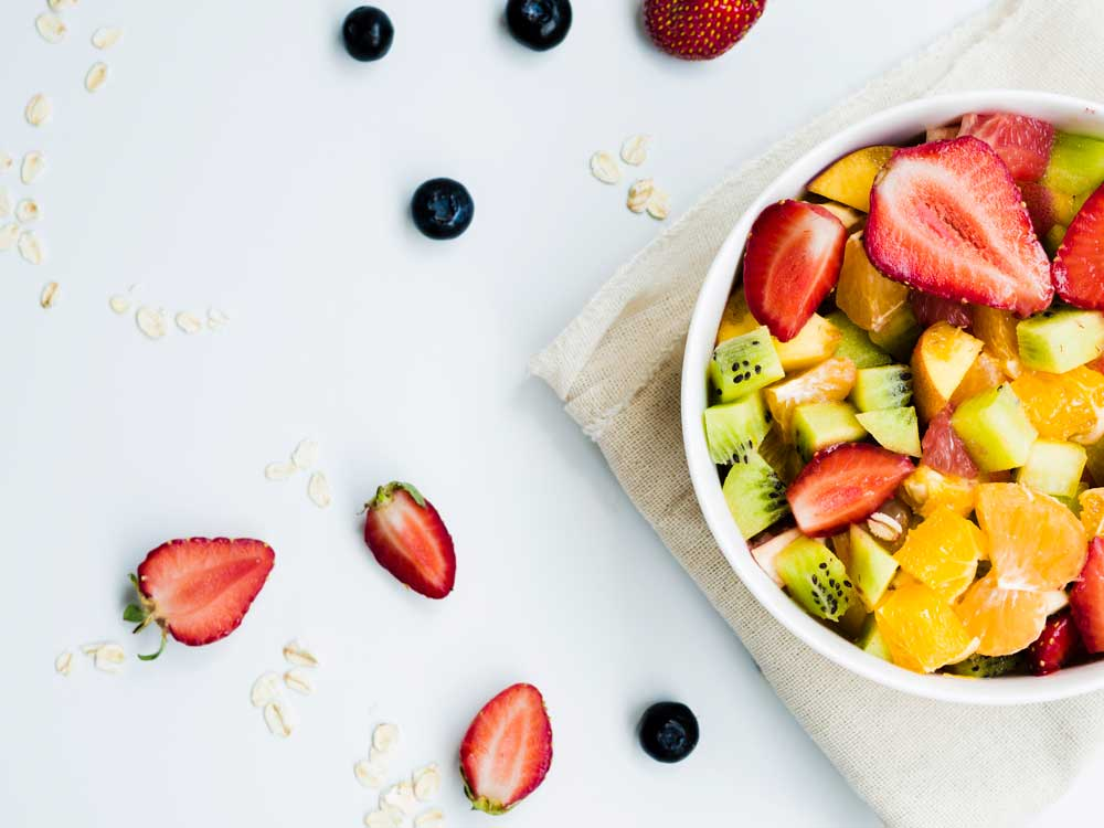 healthy food and those high in anti-oxidant helps to slow the onset of wrinkles