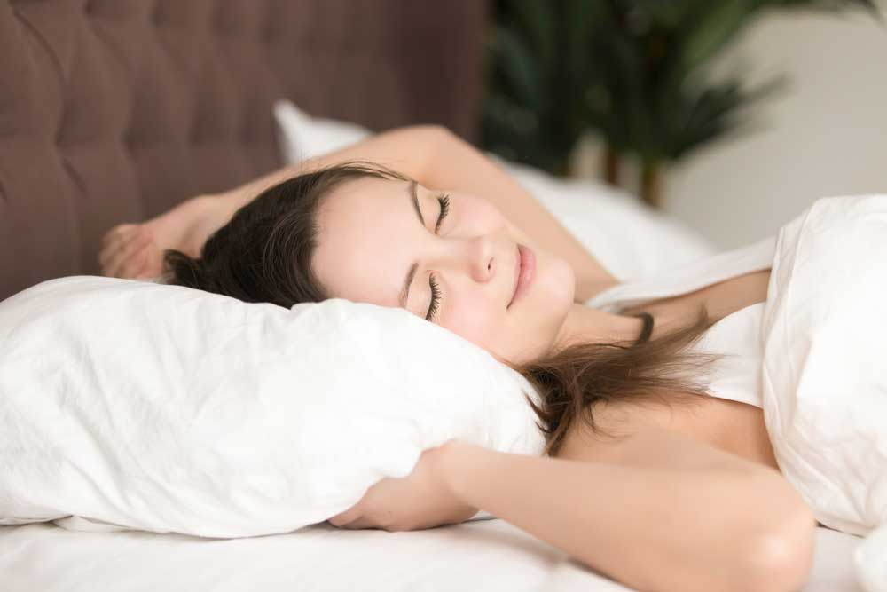 sleeping on your back helps to reduce friction on your cheek and face that causes wrinkles