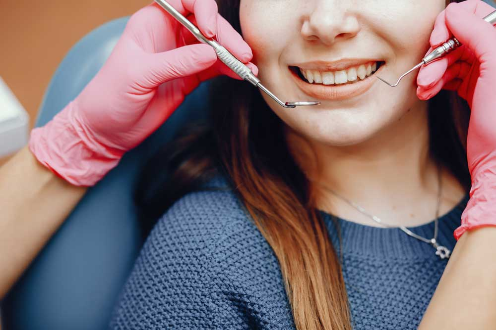 woman going for a dental procedure